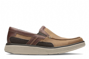 Clarks Mens Un Abode Free Light Tan Shoes